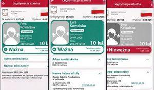 Widok ekranu głównego aplikacji mobilnej mLegitymacja