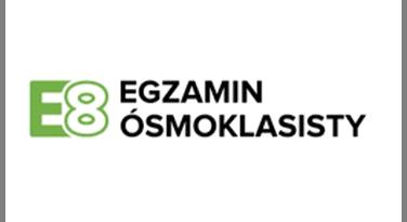 grafika przedstawiająca logotyp skojarzony z egzaminem ósmoklasisty