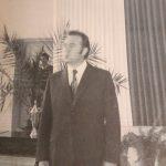 Inauguracja roku szkolnego  1973/74 dyrektor szkoły H. Odrobina