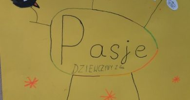 zdjęcie tytułowe przedstawia napis pasję dziewczyny z 6a i rysunki: konie, manga, nuty i napis rysowanie